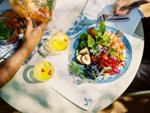 Fresh salads and Herbal Teas at the Greenhouse, Babylonstoren