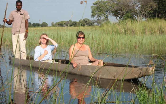 Helen & Sally take a mokoro trip in Botswana
