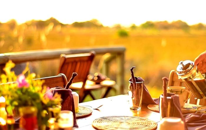 Breakfast at Delta Camp, Okavango Delta