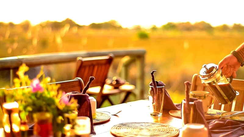 Breakfast at Delta Camp, Okavango Delta