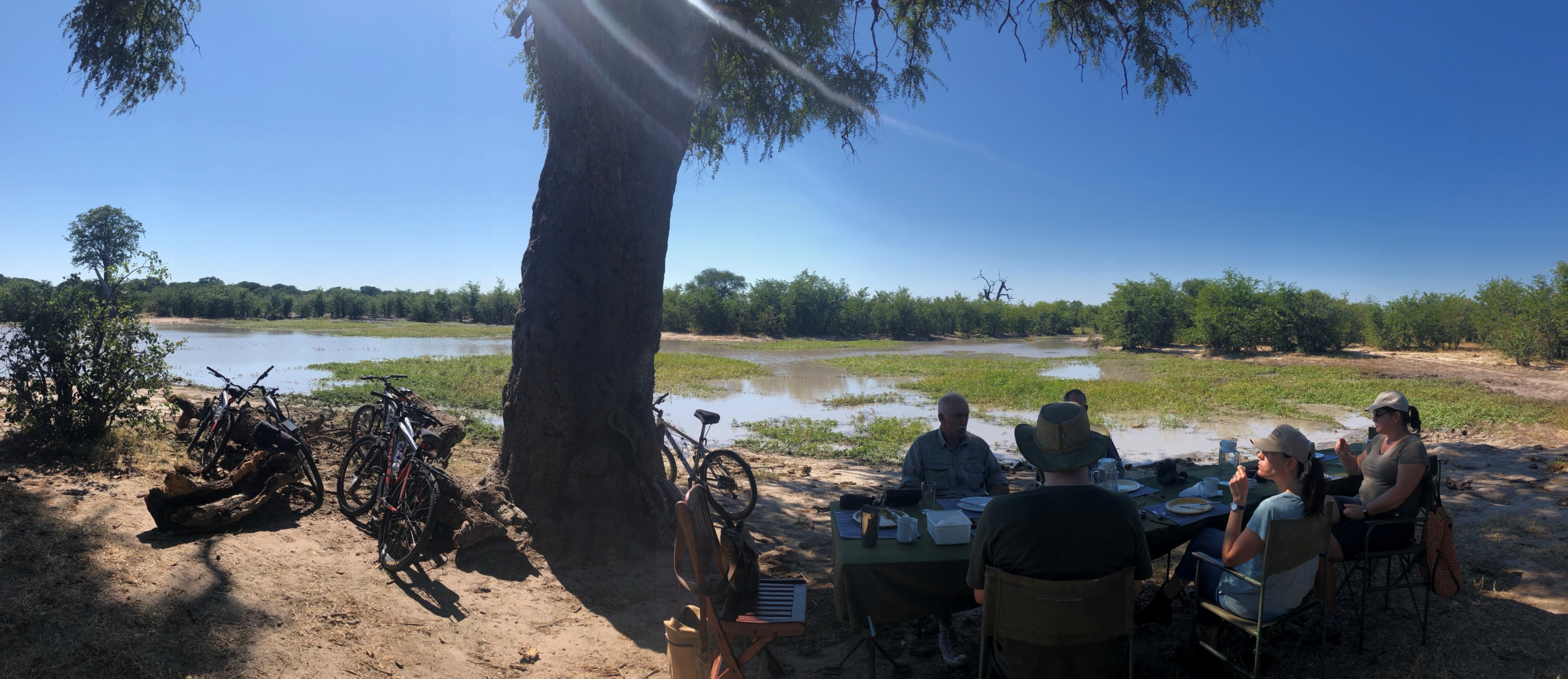 Brunch break whilst cycling from Jozi