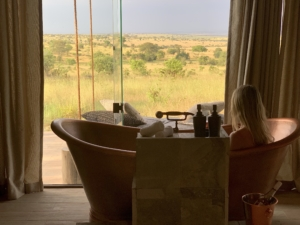 Bath views from Nimali Mara, Serengeti, Tanzania