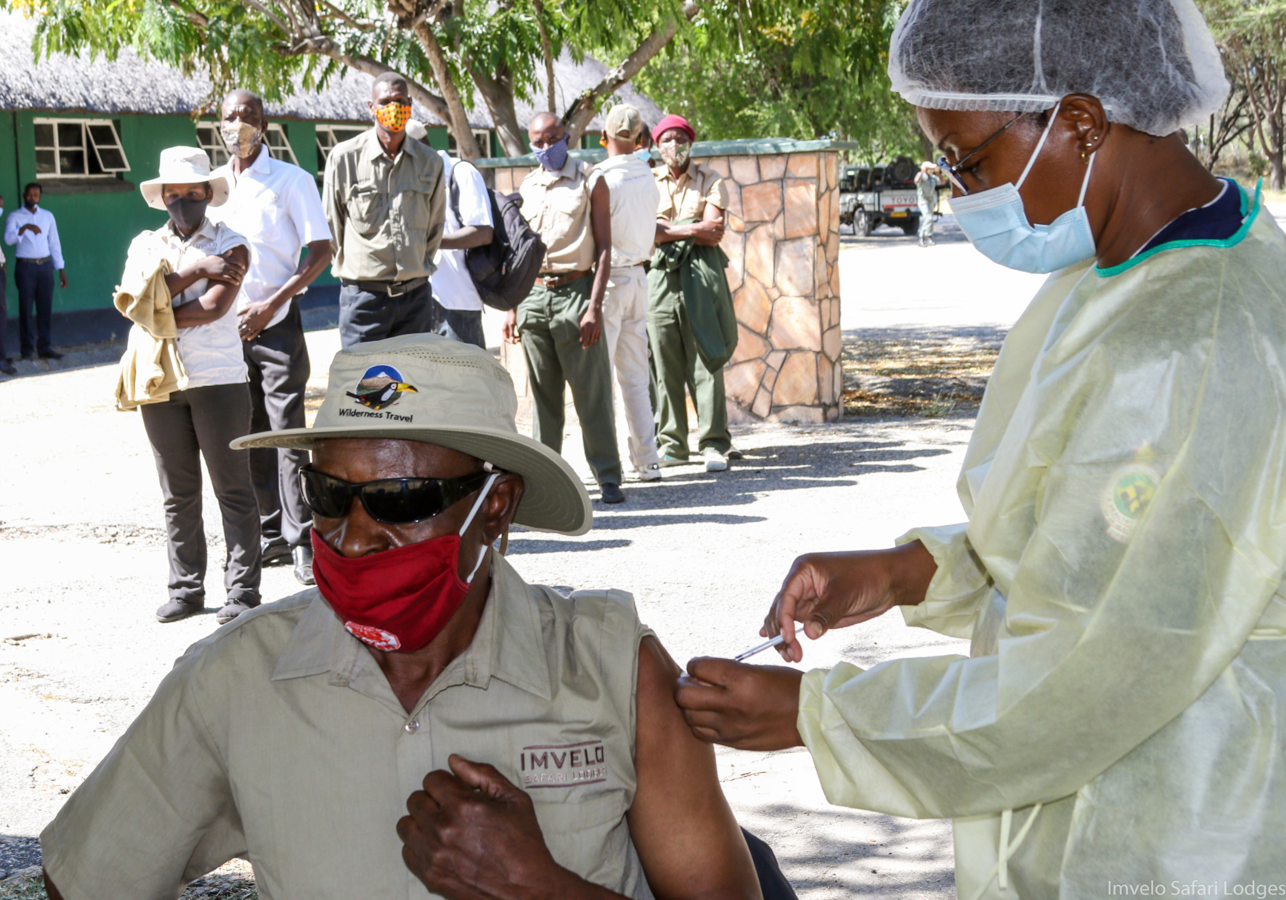 Vaccinating the local communities and frontline Imvelo Staff @ Hwange NP