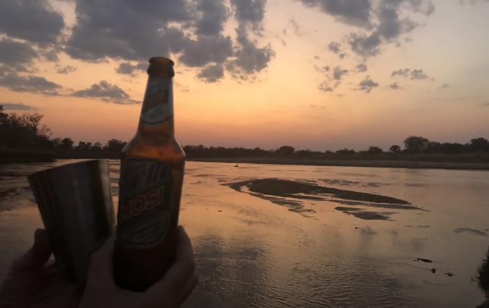 Sundowners-in-the-Mwaleshi-River-North-Luangwa-Zambia-