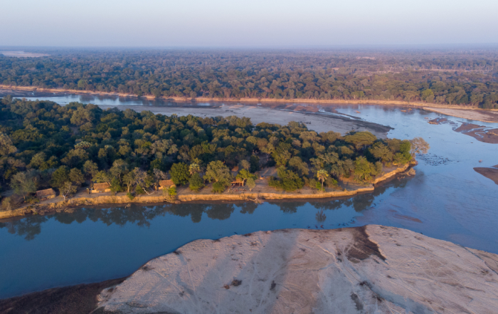 Takwela aerial sunrise view