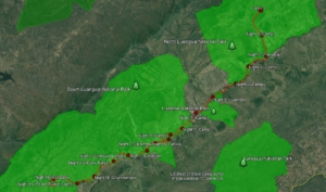 Map of the Walk Luangwa Routing